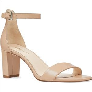 Nine West Pruce Nude Ankle strap sandals NEW 9